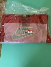 Supreme x Nike leather applique hoodie-Large Red