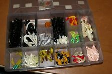 "Vintage Soft plastic fishing worms & Tube Jig lot 4"",5"",6""  Worms Lot # 3"