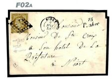 F02a France NUMBER ONE Classic Cover *Prahecq* 1851 NIORT Hotel Scott.1 Cat.$500