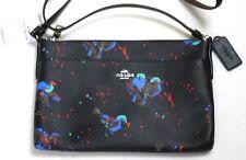 Authentic Coach East/West Pop Up Pouch Crossbody Bag - Bird Print