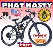 USA SELLER 2018 PHAT NASTY FAT TIRE GAS PETROL MOTOR BIKE 50 80 CC MOPED SCOOTER