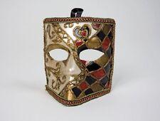 Maske Venezianisch Bauta Kunststoff Karneval Fasching ca. 15 cm hoch