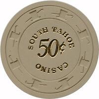 1966 South Tahoe Casino Lake Tahoe, Nevada NV 50¢ C & J Mold New Condition