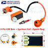 Racing CDI Box 6 Pin+Ignition Coil+Spark Plug for GY6 50-150cc Moped Scooter USA