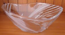 NEW ELEGANT ETCHED CLEAR GLASS FRUIT OR FLOWER BOWL SMALL ~ FREE SHIPPING