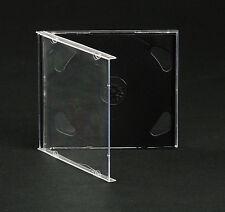 100 Custodie CD Doppie Nere - CD Jewel BOX Nero per 2 CD/DVD