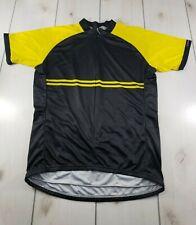 PRIMAL WEAR Cycling Jersey Bike Shirt Black Yellow Men's XL  L44