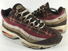 Nike Air Max 95 Plaid Baroque Brown Red Tan Mens Size 11 Rare 609048-261