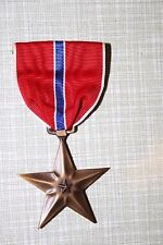 GENUINE WW2 AMERICAN ISSUE US BRONZE STAR MEDAL IN CARDBOARD BOX BROOCH BACK
