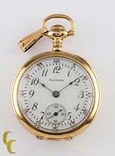 Waltham Grade Ruby 14K Gold Pocket Watch 17 Jewel Size 6/0s