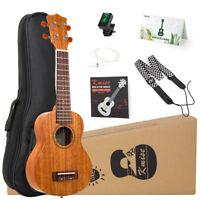 Ukulele Soprano Mahogany Ukulele 21 Inch Hawaii Guitar Kit for Beginners
