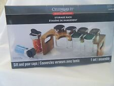 Spice Rack  8 Spice Containers With Rack, NIB