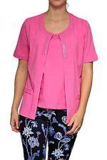 Kurzarm Damen-Pullover & -Strickware im Twinsets-Stil mit Rundhals-Ausschnitt