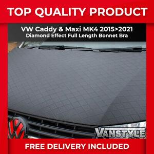 FITS VW CADDY & MAXI 15>21 BONNET BRA DIAMOND EFFECT PROTECTOR COVER STONE GUARD