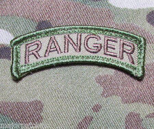 RANGER TAB ROCKER USA ARMY MILITARY US ISAF INFIDEL MORALE MULTICAM HOOK PATCH