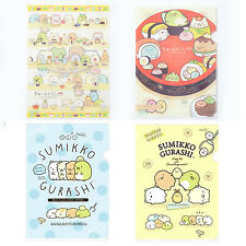 Genuine Lot 4 San-X Sumikko Gurashi A4 File Folder Clear File Document Bag Cute