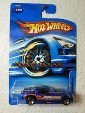 Candy Blue w/ 5 Spks 2005 Hot Wheels Plymouth Barracuda #183