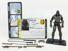 G.I. JOE PURSUIT OF COBRA HASBRO 2010 TORNADO KICK SNAKE EYES NINJA 4 INCH LOOSE