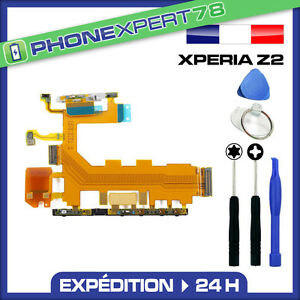NAPPE POWER ON OFF + VOLUME + MICRO POUR SONY XPERIA Z2