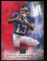 2015 Topps Inception Football Card Odell Beckham Jr. card Red Parallel  59/75 SP