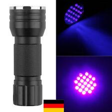 UV Lampe 21LED Taschenlampe Schwarzlicht Flashlight Superstrahl Tragbare DE