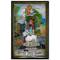 JEYES' DOG SOAP :EMBOSSED(3D) METAL ADVERTISING SIGN 30X20cm