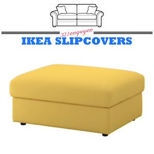 IKEA VIMLE OTTOMAN FOOTSTOOL Slipcover Cover Orrsta Golden Yellow 203.511.34