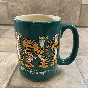 Vintage Walt Disney World Happy Tigger Pooh Coffee Mug Green