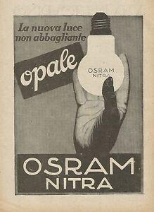 Y0504 Osram The New Light Doesn'T Beam - Advertising D'Epoca