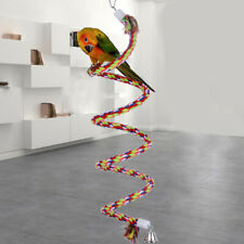 50cm/19.7in Bird Perch Spiral Cotton Rope Chewing Parrot Climbing Standing To P5