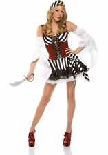 SALE!! L/XL 14 Pirate Striped Dress Full COSTUME Forplay Delux Necklace Cutlass