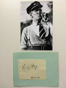 Will Hay - Oh, Mr Porter! & Frankie Howerd - Comedian - Original Autographs 1946