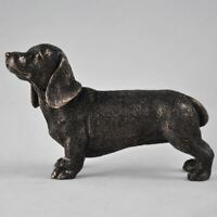 Bronze Effect Dachshund Ornament Statue Home Decoration or Dog Lover Gift