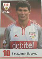 Krassimir Balakov  VFB Stuttgart  2000/01 Autogrammkarte orig. signiert 396256