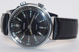 USSR Mechanical Wrist Watch Sekonda (Poljot) Signal Alarm Cal.2612.1 18 Jewels