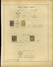 Turkey 1869-1873 Album Page Of Stamps #V13991