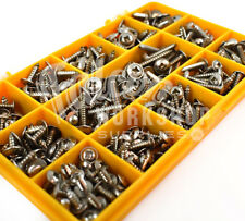 120 ASSORTED 6g 8g 10g A2 STAINLESS STEEL FLANGE POZI SELF TAPPING SCREWS KIT