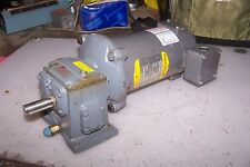 BOSTON GEAR 900:1 DC CONVEYOR GEARMOTOR 90 VDC .25 HP 1750 RPM 56C FRAME