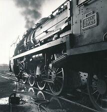 LE MANS 1956 - Au dépôt Locomotive 141-P-125 - 18 cm x 17 cm