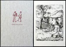 Vergil: Bucolica (1974). Mit 2 signierten Lithografien von Robert Kirchner