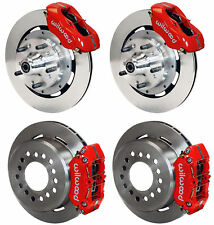 "WILWOOD DISC BRAKE KIT,59-64 CHEVY IMPALA,BEL AIR,11"" ROTORS,RED CALIPERS"