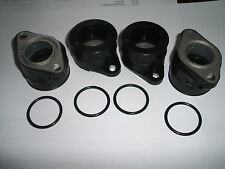 HONDA CB350F CB400F FOUR INLET INTAKE RUBBER JOINTS *NEW* CARBURETTOR