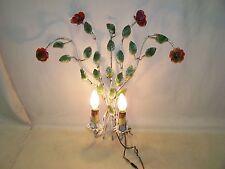 Antique Applique murale,Fleurs Lampe avec Roses Culte Design Rétro,Années 50