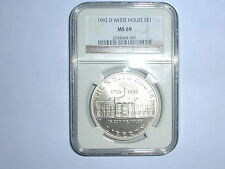 1992-D $1 White House Commemorative Silver Dollar NGC MS 69
