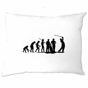 Sports Pillow Case The Evolution Of A Golfer Golf Club Putt Course Iron Hole