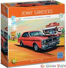 Red Ford 351 1000 Piece Blue Opal Jigsaw Puzzle by Jenny Sanders