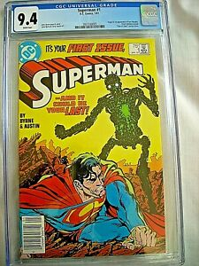 DC SUPERMAN #1 CGC 9.4 NM White Pages 1987 John Bryne Metallo Newsstand