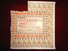 Bodegas Nuestra Señora de la Fuensanta,Cordoba, Spain Share certificate 1941
