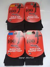 1 PAIR OF 100 DENIER APPEARANCE SHAPE ME! BUM & TUM SHAPER TIGHTS WITH 3D LYCRA