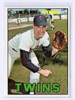 1967 Topps #246 Jim Perry Minnesota Twins Baseball Card